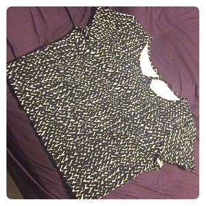 Express Black and White crop top.